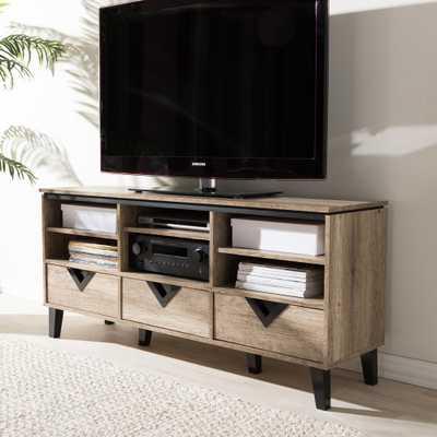 Wales Light Brown Storage Cabinet, Light Brown Wood - Home Depot