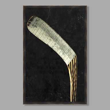 Hockey Stick Framed Art - Pottery Barn Teen