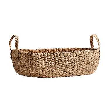 Ibiza Console Basket, Honey - Pottery Barn