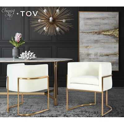 Giselle Grey Upholstered Dining Chair - Wayfair