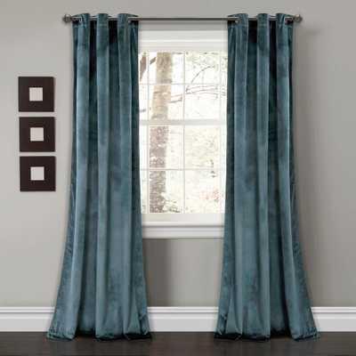 "Lush Decor Prima Velvet Solid Window Panels SlateBlue 84"" x 38"" 2-Pc Set 100% Polyester - Home Depot"