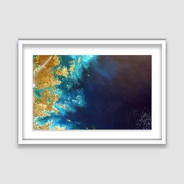 "Framed Print, Abstract Sea, 46""x36"" - West Elm"