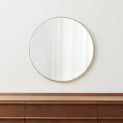 """Edge Brass Round 30"""" Wall Mirror - Crate and Barrel"""