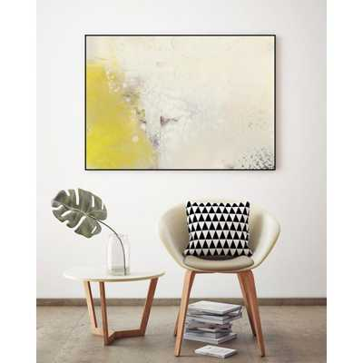 """CLICART 24 in. x 36 in. """"Yellow Lux I"""" by Sue Jachimiec Framed Wall Art - Home Depot"""