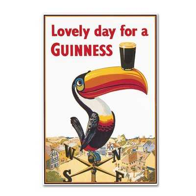 "Lovely Day For A Guinness VIII"" by Guinness Brewery Vintage Advertisement on Wrapped Canvas - Wayfair"