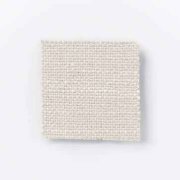 Andes Deco Upholstered Storage Bed, Queen, Yarn Dyed Linen Weave, Stone White, Light Bronze - West Elm
