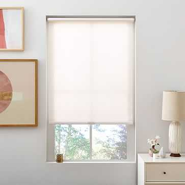"""Bali Roller Shade, Small, White, 24""""x48"""", Light Filtering - West Elm"""