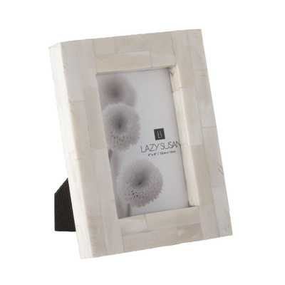 Bone Block 1-Opening 4 in. x 6 in. Natural Bone Picture Frame - Home Depot