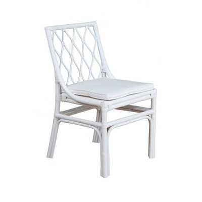 Amery Rattan Dining Chair White - East At Main - Target