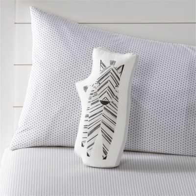 Safari Zebra Throw Pillow - Crate and Barrel