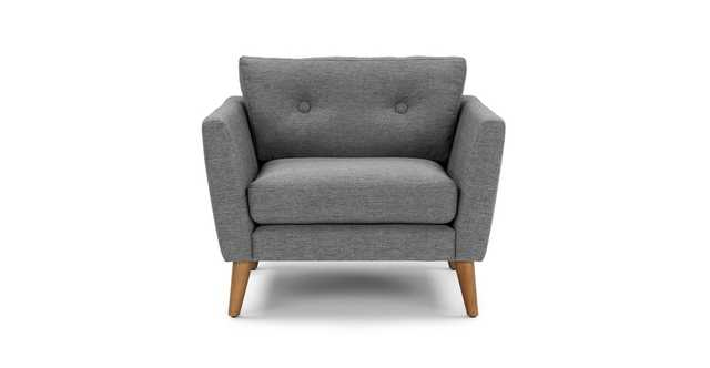 Emil Gravel Gray Chair - Article