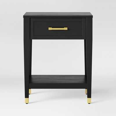 Duxbury Black End Table with Gold Feet - Threshold - Target