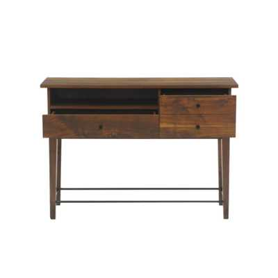 Harvey Park Grand Walnut Sofa Table - Home Depot