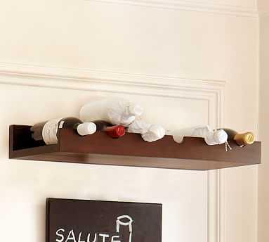 Holman Entertaining Shelf, Wine Bottle, Espresso Stain - Pottery Barn