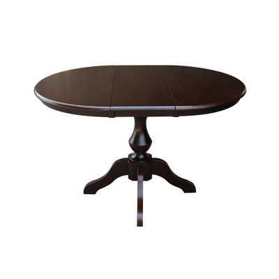 Olivia Mocha Oval Solid Wood Pedestal Dining Table, Rich Mocha - Home Depot