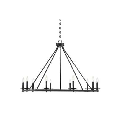 Filament Design 10-Light Matte Black Chandelier - Home Depot