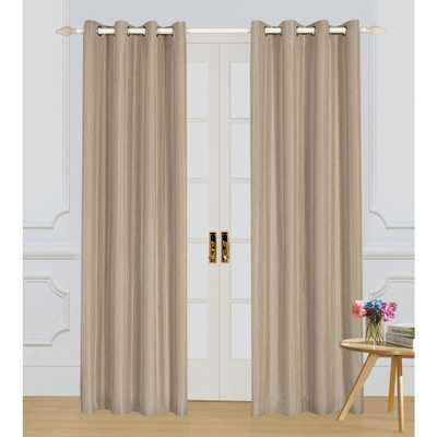 Lyndale Decor Murano Taupe (Brown) Room-Darkening Polyester Curtain - 84 in. L x 54 in. W - Home Depot