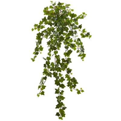 Nearly Natural Indoor 36 Curly Ivy Artificial Hanging Plant (Set of 3) - Home Depot