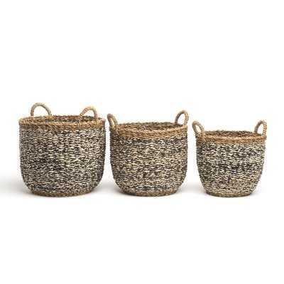 3 Piece Storage Basket Set - Wayfair