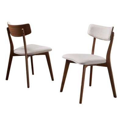 Chazz Set of 2 Mid-Century Dining Chair Beige - Christopher Knight Home - Target