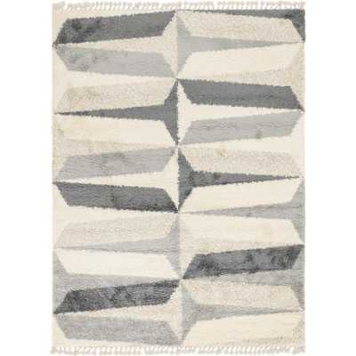 Unique Loom Hygge Shag Gray 9' x 12' Rug - Home Depot