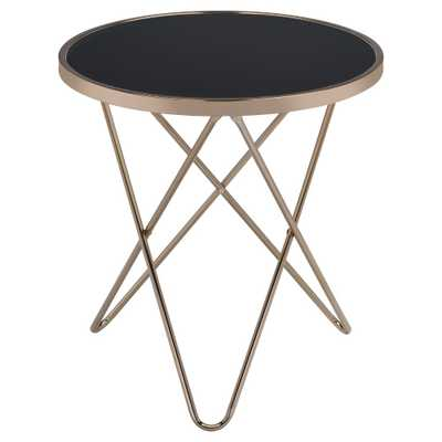 End Table Black Champagne, Black Glass & Champagne - Target