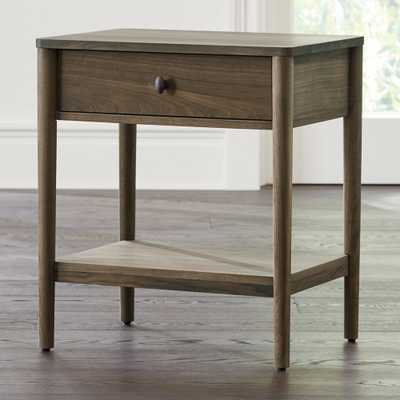 Gia Walnut Nightstand - Crate and Barrel