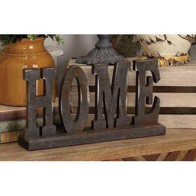 Wood Table Top Home Letter Block - Wayfair