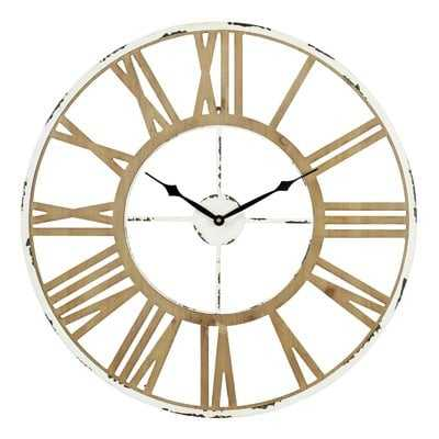"Oversized Kissel 24"" Wall Clock - Wayfair"