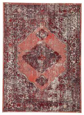 "Romina Medallion Red/ Pink Area Rug (5'3""X7'6"") - Collective Weavers"