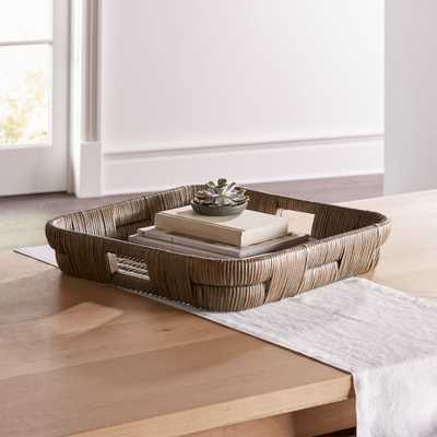 Auburn Square Woven Tray - Crate and Barrel