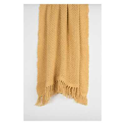 "Throw Blankets 50""X60"" Yellow - Rizzy Home - Target"