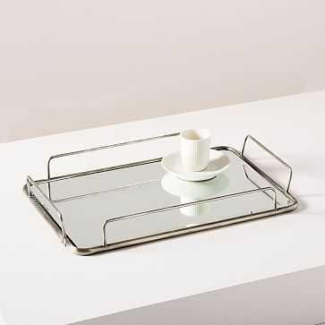Fishs Eddy Gilded Cafe Mirror Trays, Polished Nickel - West Elm