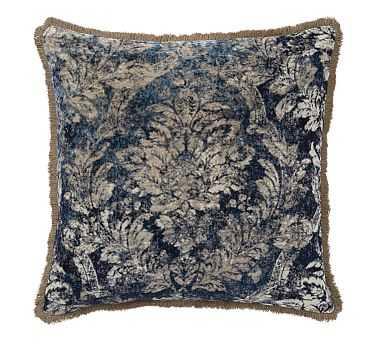 "Claudine Print Pillow Cover, 24"", Indigo Multi - Pottery Barn"