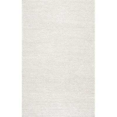 Arviso Hand-Woven Wool White Area Rug - Wayfair
