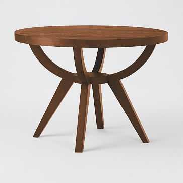 "Arc Base Pedestal Table, 42"", Dark Walnut - West Elm"