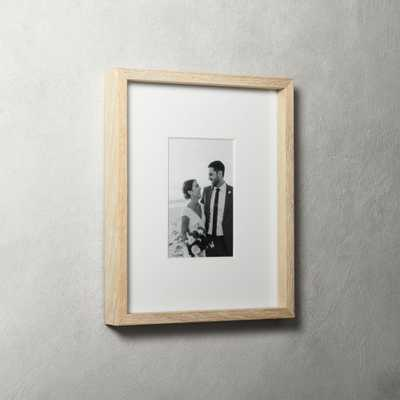 Gallery Oak Picture Frames with White Mat 4x6 - CB2