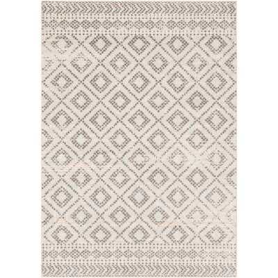 "Woodrum Distressed Global-Inspired Light Gray/White Area Rug 7'10"" x 10'3"" - Wayfair"