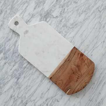 Marble + Wood Cutting Board - West Elm