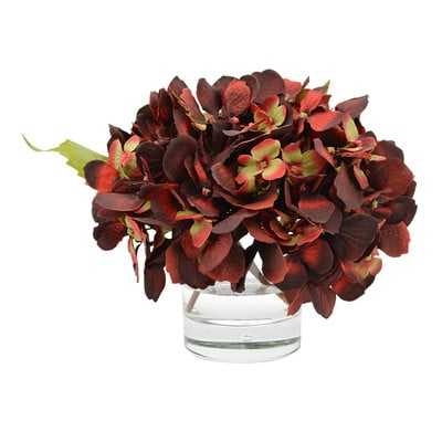 Hydrangea Floral Arrangement in Vase - Birch Lane