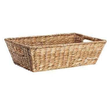 "Savannah Underbed Basket, Small (20"" x 12"") - Pottery Barn"