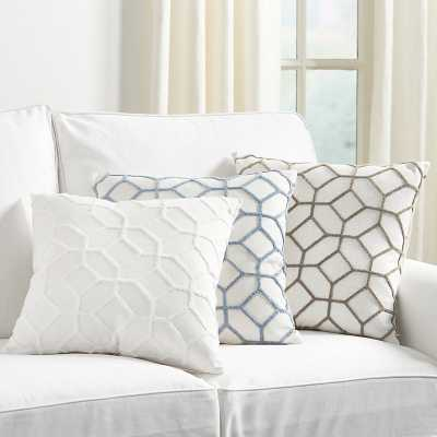 Ballard Designs Inman Textured Trellis Pillow Cornflower - Ballard Designs