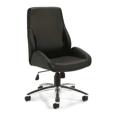 High-Back Leather Desk Chair - Wayfair