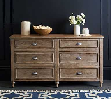 Astoria Extra Wide Dresser, Rosedale Brown - Pottery Barn