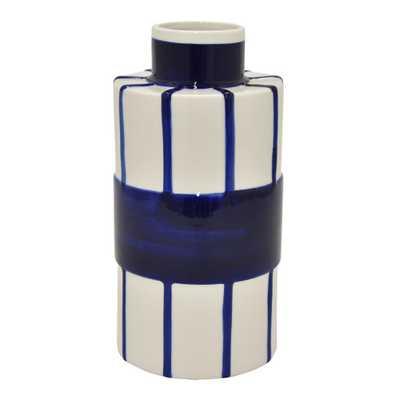 11 in. Blue and White Porcelain Vase - - Home Depot