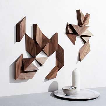 makgoods Modular Wall Art, 24 Piece, Walnut - West Elm