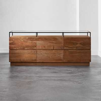 Lawson Low Glass Top Dresser - CB2