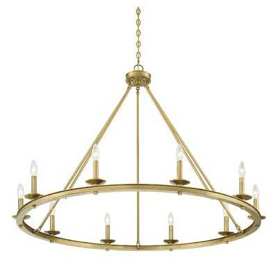 Aramis 10-Light Wagon Wheel Chandelier - Birch Lane