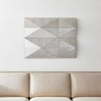 Gemma Antiqued Faceted Wall Mirror - Crate and Barrel