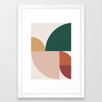 "Abstract Geometric 11 Framed Art Print - 15"" x 21"", vector white frame - Society6"